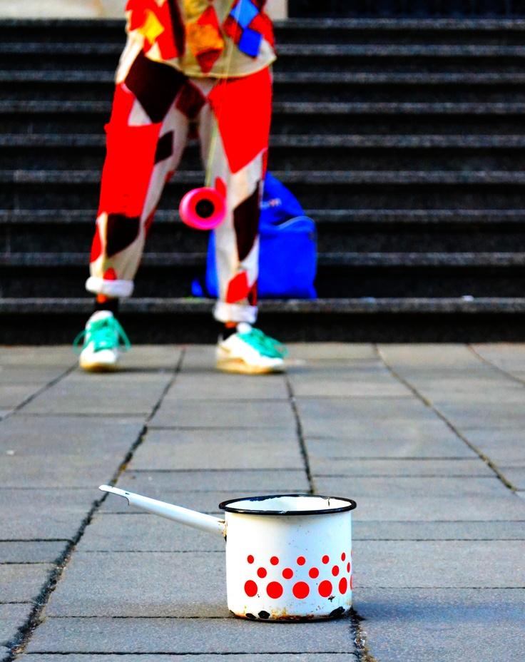 ceai, cafea? in plina strada.