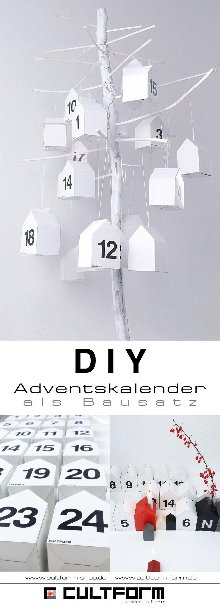 Weihnachts-DIY: Adventskalender mit Stil zum selbst gestalten. Einfach da als Bausatz. Passend zu den anderen Weihnachtsprodukten von CULTFORM #diy  #weihnachten  #adventskalender #adventskalenderbasteln  #basteln  #minimalistisch  #erzgebirge  #weihnachtsdeko  #weihnachtdekoration #weihnachtsdekotrends #häuser #häuschen #design