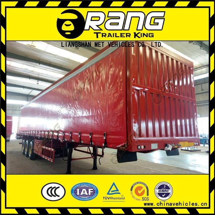 Orang brand 3 axles 40T tri-axle strong box utility trailer/van type semi trailer/curtain side trailers for sale