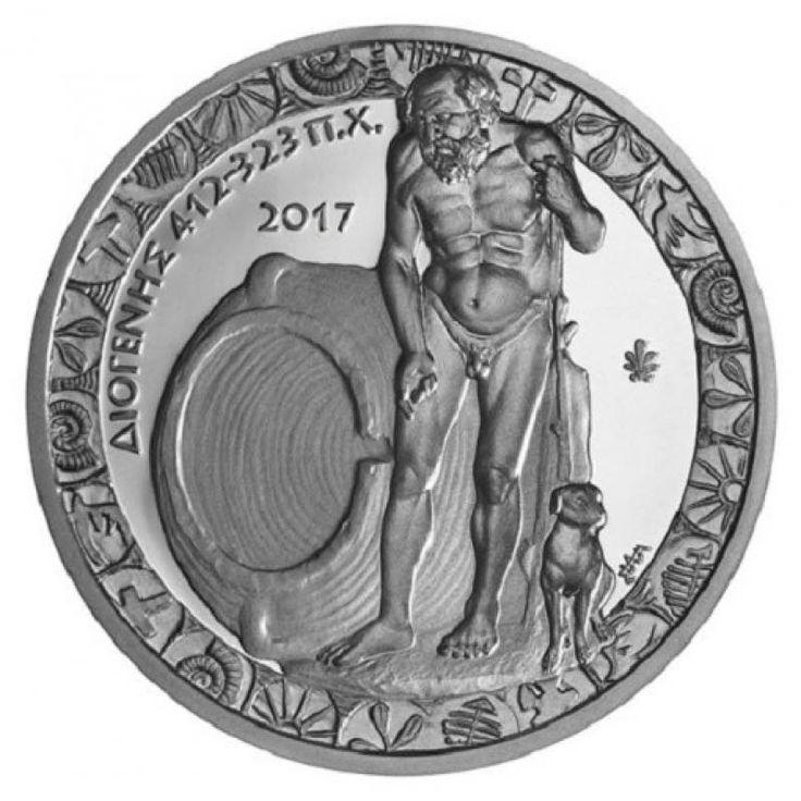 Νομίσματα & Ιστορία  Ο Διογένης ο αποκαλούμενος «Κυνικός», ή Διογένης ο Σινωπεύς (αρχ. Διογένης ὁ Σινωπεύς) ήταν αρχαίος Έλληνας φιλόσοφος.  Θεωρείται ο κυριότερος εκπρόσωπος της Κυνικής Φιλοσοφίας. Χρησιμοποιούσε τον αστεϊσμό και το λογοπαίγνιο ως μέσο για τα διδάγματά του. Πίστευε πως η ευτυχία του ανθρώπου βρίσκεται στη φυσική ζωή και πως μόνο με την αυτάρκεια, τη λιτότητα, την αυτογνωσία και την άσκηση μπορεί κανείς να την εξασφαλίσει.  #ΕιδικήΤιμή #Προσφορά ✦€10 Νόμισμα Ασήμι 925…
