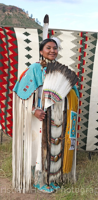 Helena Rosehall, Shoshone-Bannock, 4th of July Pow Wow, Lame Deer, Northern Cheyenne Rez, Montana, photo Christian Heeb