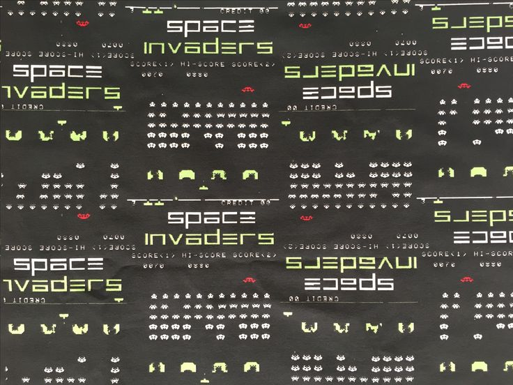 Space Invaders Underwear organic fabric pattern print Thunderpants