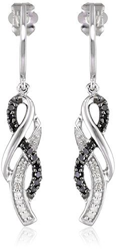 #blackdiamondgem #carbonado 10K White Gold Black and White Diamond Cross Over Earrings (1/4 cttw)	by Amazon Curated Collection - See more at: http://blackdiamondgemstone.com/jewelry/earrings/diamond-accented/10k-white-gold-black-and-white-diamond-cross-over-earrings-14-cttw-com/#sthash.nIvso5kl.dpuf
