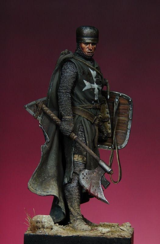 "Pegaso Models - Knight Hospitaller, 1203~1204. Painted by Ernesto R.Stalhuth aka ""Ernest"""