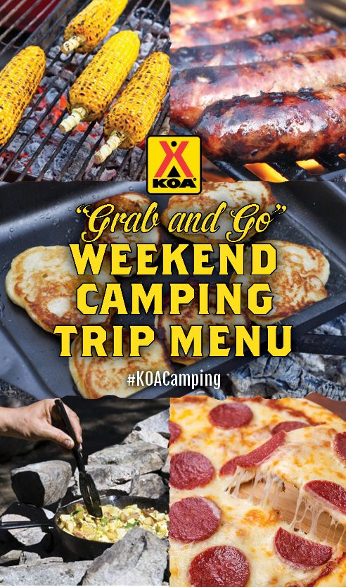 Grab And Go Weekend Camping Trip Menu