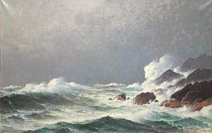 Haaland, Lauritz - Havet bryter, 1907 / Moderne, Klassisk og Munch &…