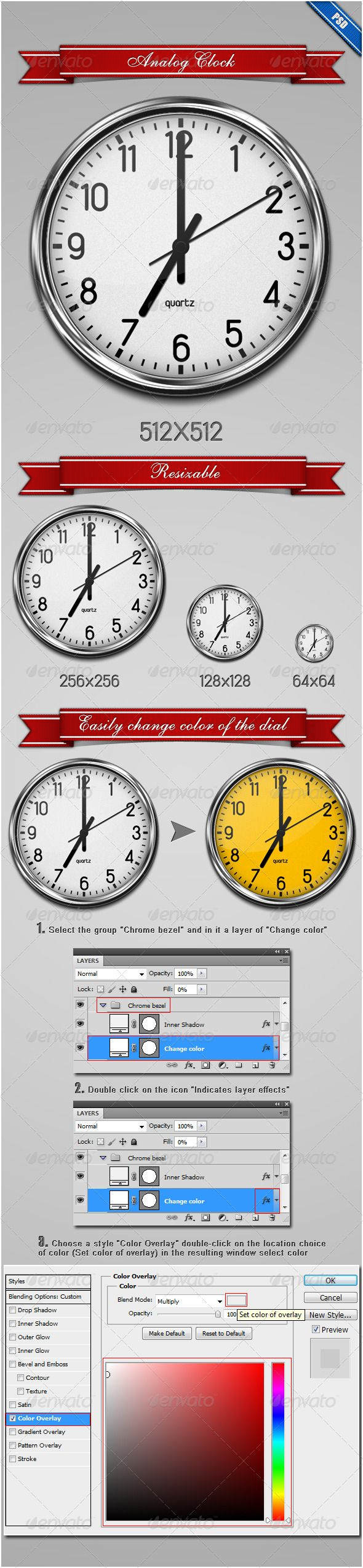 Analog Clock — Photoshop PSD #white #icon • Download here → https://graphicriver.net/item/analog-clock/235169?ref=pxcr
