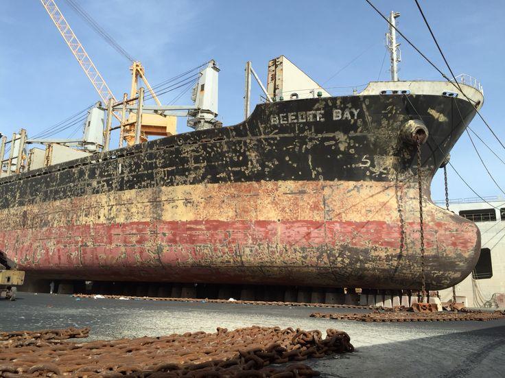 Blasting at Oman Drydock Company in Duqm