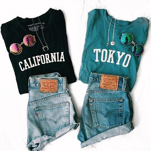 "- Description Details: California relaxed tee in acid wash black by NYCT Clothing. Measurements: (Size Guide) S: 37"" bust, 25.5"" length M: 40"" bust, 26.0"" length L: 44"" bust, 26.5"" length Model is wea"