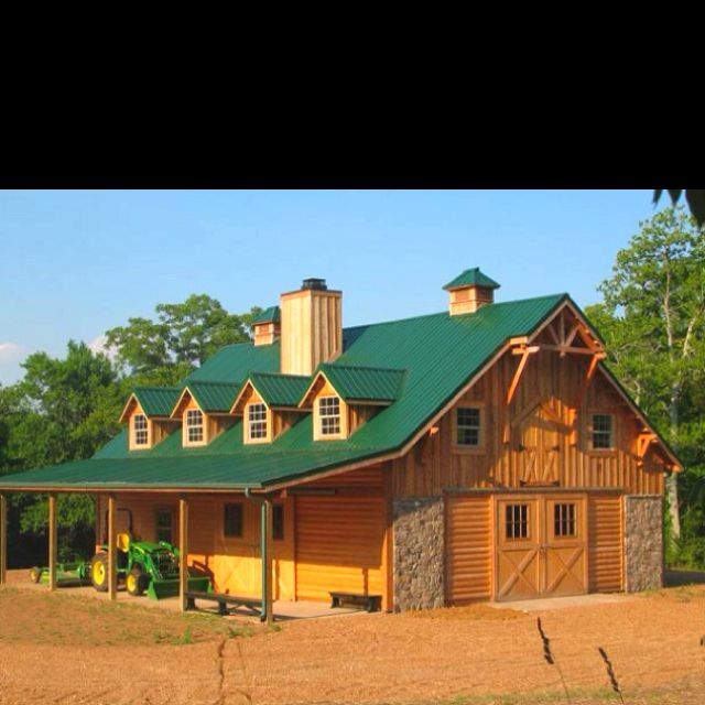 135 best barns stables and metal roofing images on pinterest for Garage with living quarters prefab