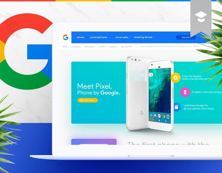 Consulter ce projet @Behance: «Google Pixel Landing Page Redesign Concept» https://www.behance.net/gallery/44676251/Google-Pixel-Landing-Page-Redesign-Concept