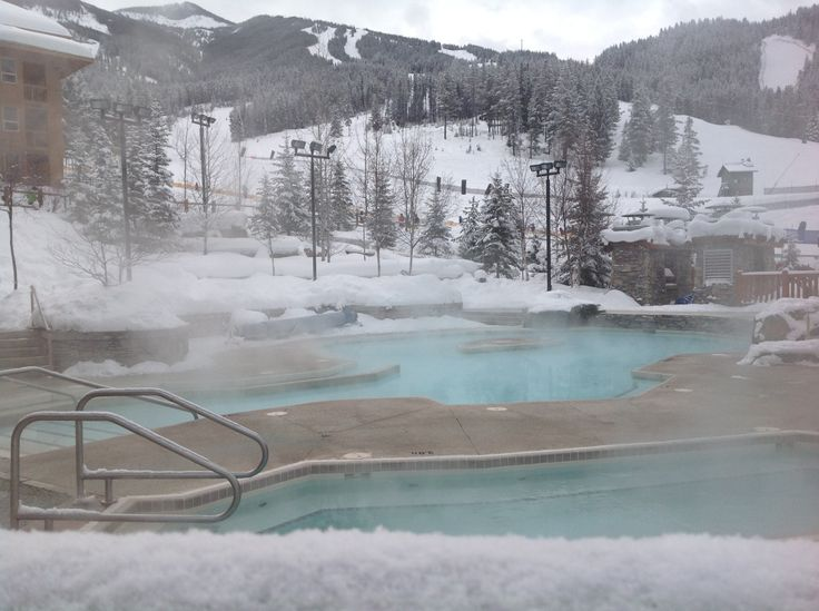 Hot Pools Panorama Ski Resort Winter In Canada Skiing
