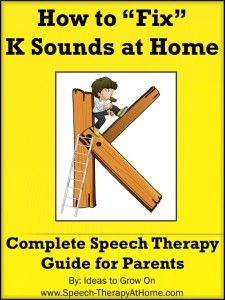 Complete guide to help parents work on K sounds at home. Therapy Ideas, Game Ideas, How to Establish a K, 120 Printable Cards and More. $5.99