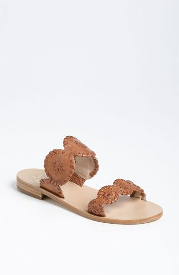 Free shipping and returns on Jack Rogers 'Lauren' Sandal (Women) at Nordstrom.com. Metallic whipstitching adds signature vintage style to a streamlined slide sandal with plenty of summery appeal.