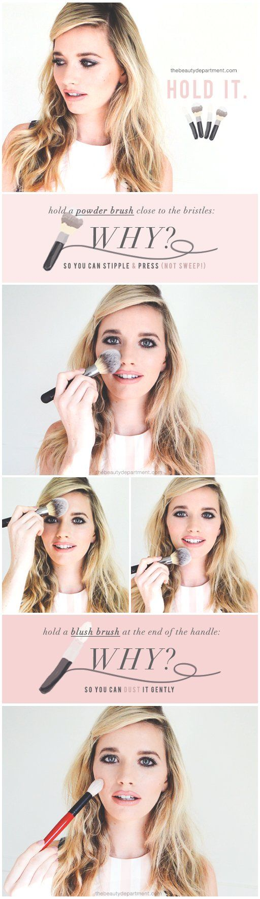 The Beauty Department: Your Daily Dose of Pretty. -   QUICK FACE BRUSH TIP