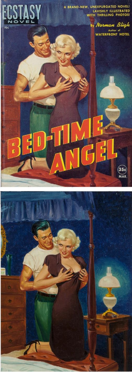 GEORGE GROSS - Bed Time Angle by Norman Bligh (William Arthur Neubauer) - 1951 Ecstasy Books - items by fineart.ha