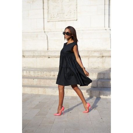 Casual summer black dress, WMwear.com