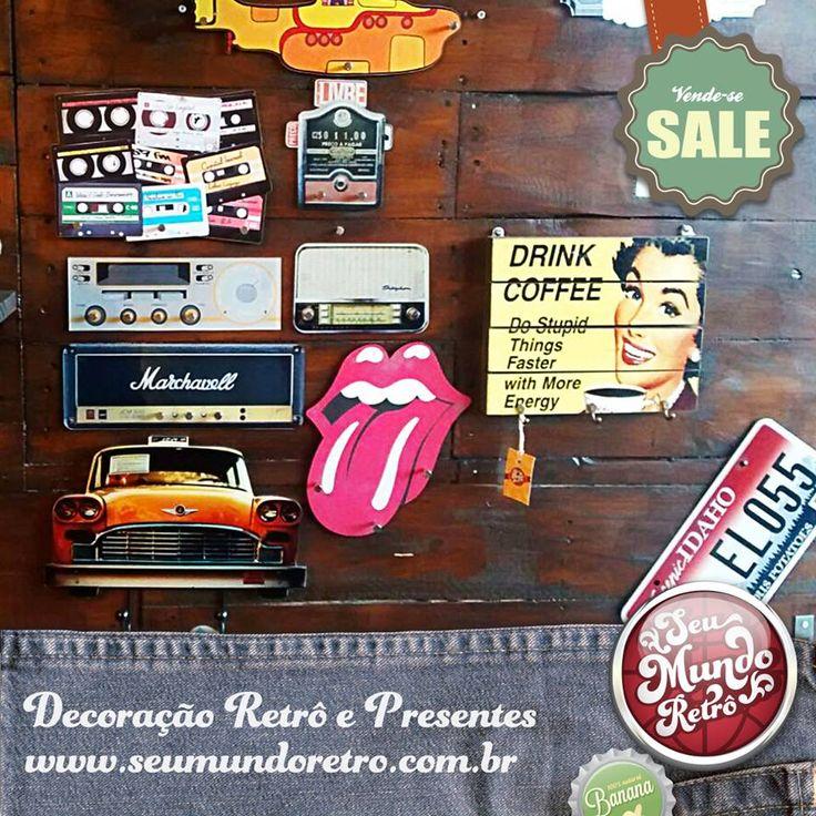 Chegaram novidades! Organize suas chaves com esses lindos porta-chaves, também chamados de claviculários.Venha conferir! Isso e muito mais aqui, na Seu Mundo Retrô! #Retrô #SeuMundoRetrô #HoneDecor #PortaChaves #RetroLovers #RollingStones #Radio #Taximetro #Claviculário #DrinkCoffee #YellowSubmarine