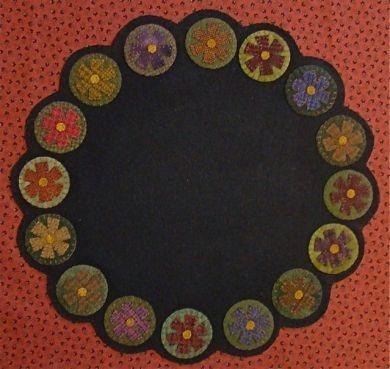 Wool penny flower mat
