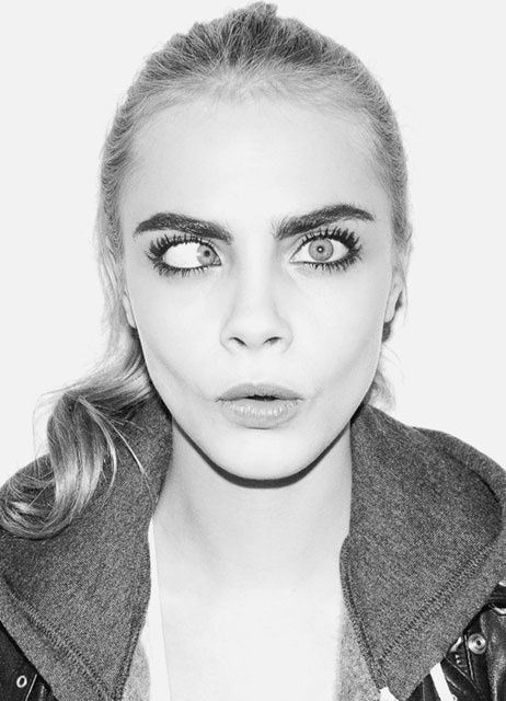 Cara Delevingne. She is weird and I love it.