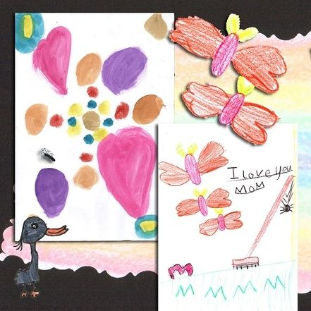 """Customising your childrens' art in a hard cover coffee table book as a keepsake or """"hand-me-down"""" ..."""
