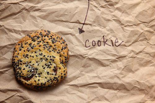 Salty chocolate sesame cookies