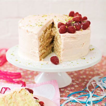 Raspberry And Vanilla Wedding Cake Recipe. For The Full Recipe, Click The  Picture Or