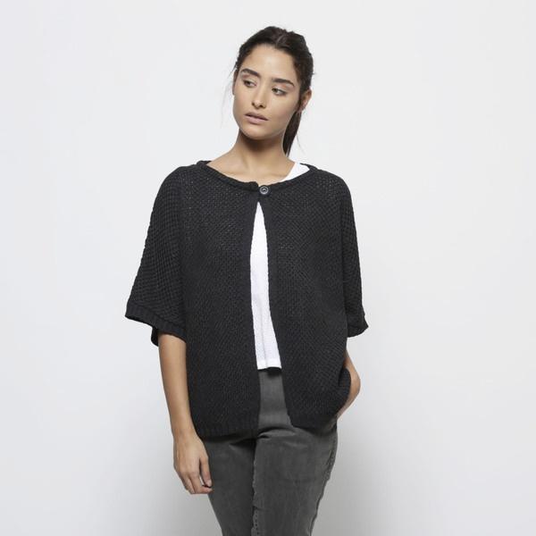 Drak grauen gestrickten Kimono Jacke, Herbst cardi