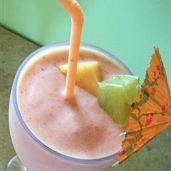 Cantaloupe-frambozen smoothie @ allrecipes.nl
