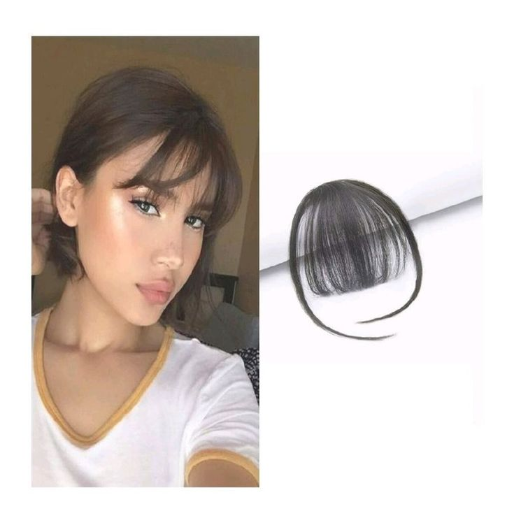 Women Thin Neat Air Bangs/Fringe Clip on/in Hair Extensions Remy Human Hairpiece#Air#Bangs#Fringe