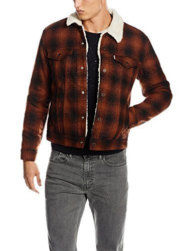 Levi's TYPE 3 SHERPA TRUCKER, Chemise Casual Homme, Multicolore (Q4332 MASTIC BURNT HENNA PLAID TRUCKER), Small: Tweet De Levi vient le…