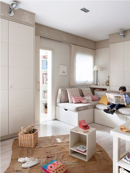 Детская игровая в спокойных тонах - Дизайн интерьеров   Идеи вашего дома   Lodgers