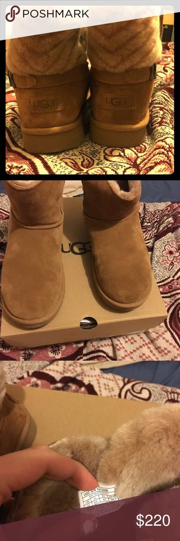 Original UGG boots Boots are in good conditions I just worn it 2 times I brought them 2 weeks ago from the store.. size 10. I have the original box and bag UGG Shoes Winter & Rain Boots