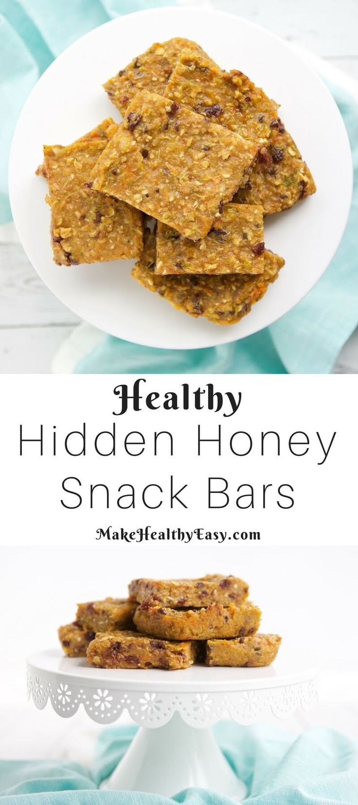 Looking for a homemade snack bar that's yummy and healthy? Try these simple Hidden Honey snack bar recipe made with whole grains, honey, and hidden veggies. They are perfect for kiddos and big people too. ~ http://jennabraddock.com
