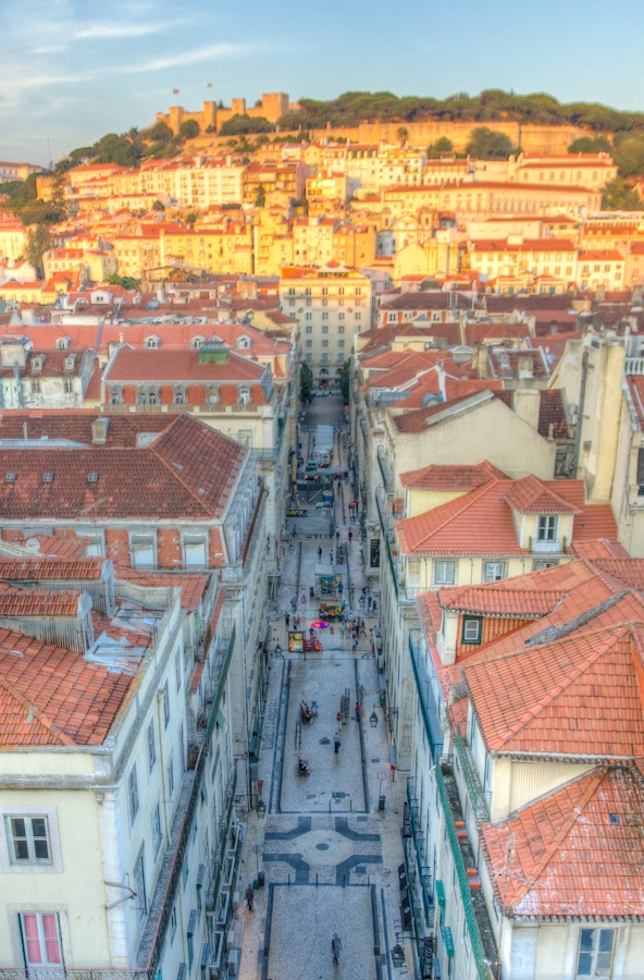 From the top of the Santa Justa