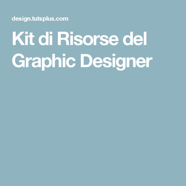 Kit di Risorse del Graphic Designer