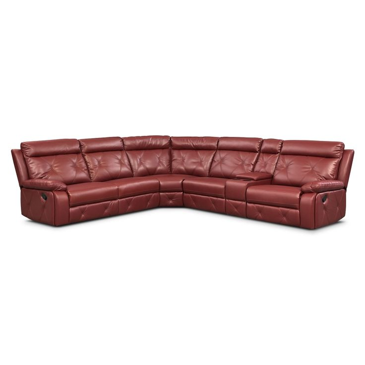 Living Room Furniture 6 Pc Power Reclining Sectional W
