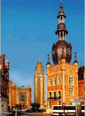 Beffroi de Comines, Lille, Nord Pas de Calais (59), France.