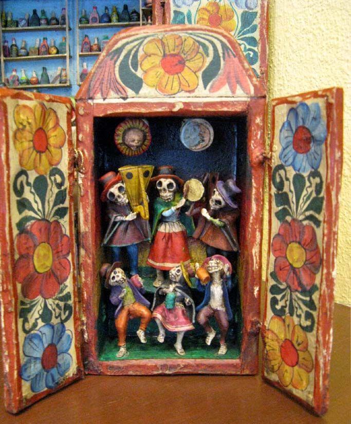 dia de los muertos retablo