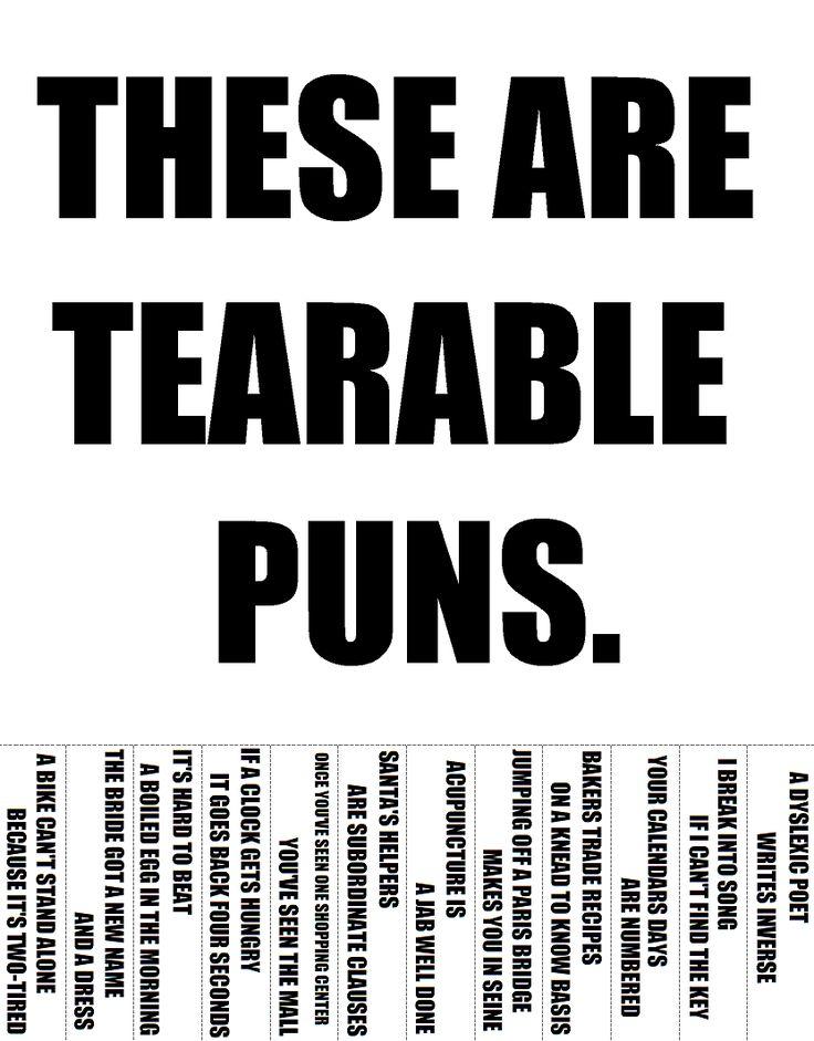 tearable puns - Imgur
