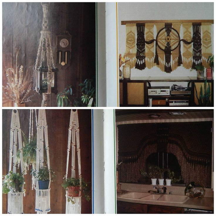 Macrame Patterns/ Juliano's Hang It All Macrame/ cradle, wall divider, hand bag, wall decor, terrarium hanger, curtains, plant hangers by RedWickerBasket on Etsy