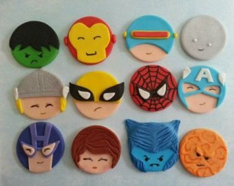 Super hero marvel justice league fondant by DsCustomToppers