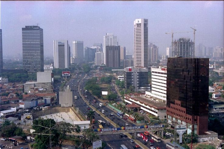 Jakarta - Looking south from the Mandarin Oriental Hotel (1995)