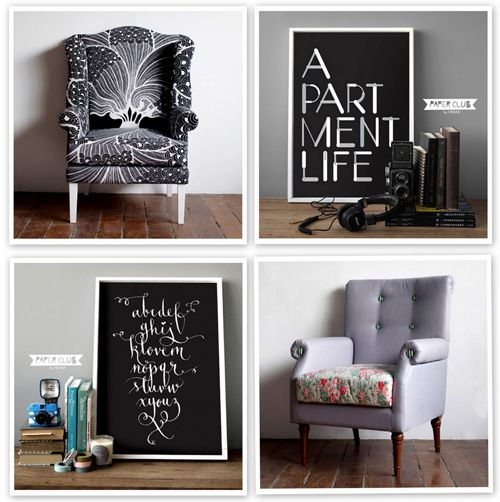 LOVE the calligraphy alphabet poster. Gorgeous.: Fruit Salad, Apartment Life, Chairs, Apartment Design, Fun Furniture, Decor Grey, Apartment Ideas, Design Home, Apartment Rooms