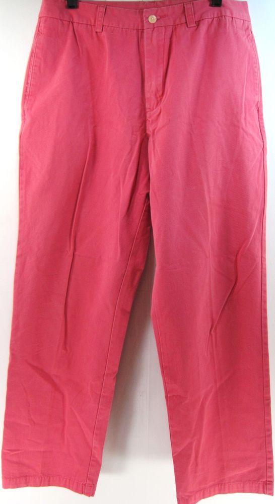 Vineyard Vines Men Pants Size 32 Waist 32 Inseam 29 Coral Pink 100% Cotton #VineyardVines #CasualPants