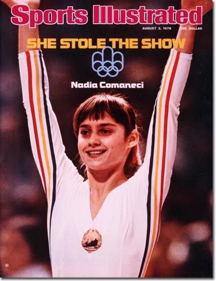 Nadia Comaneci - 1st gymnast to win a perfect 10 score, and she did it 7 times! She also took home 5 medals, 3 of them gold in the 76 Olympics.