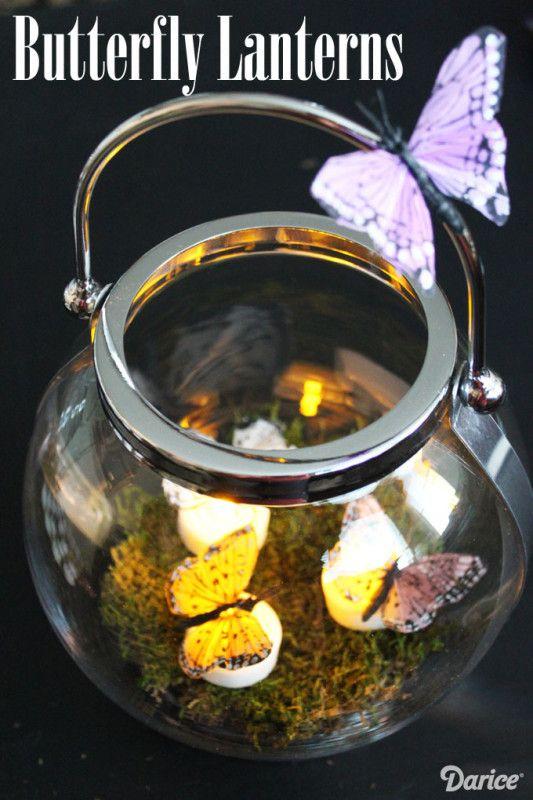 Butterfly Decor: DIY Tea Light Butterfly Lanterns Tutorial