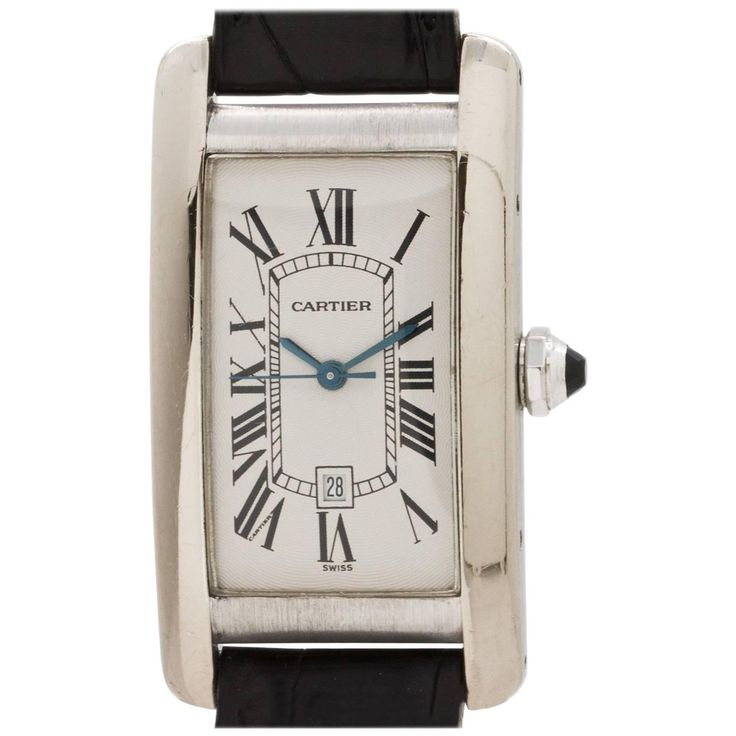 Cartier Tank Americaine 18K WG Automatic ref 1726 circa 1990's