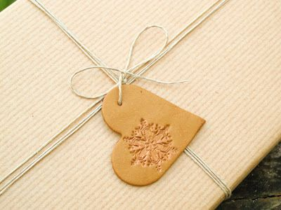 Heart with snowflake - Christmas gift tag and ornament