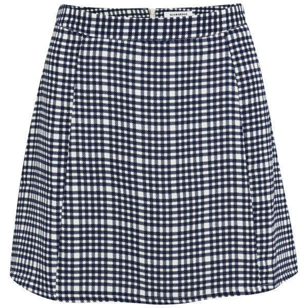 Glamorous Women's Coordinating Check Skirt - Blue ($15) ❤ liked on Polyvore featuring skirts, mini skirts, bottoms, faldas, saias, blue, blue mini skirt, short mini skirts, checked skirt and short skirts